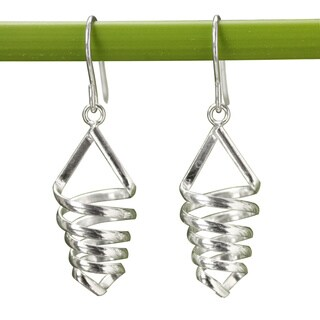Handmade Sterling Silver 'Love Tornado' Earrings (Thailand)