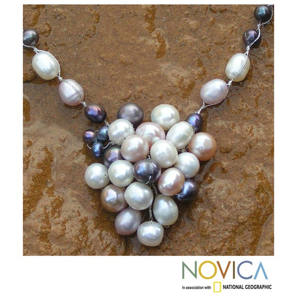 Handmade Pearl 'Enchantment' Necklace (4.5-6 mm) (Thailand)
