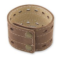Handmade Men's Leather 'Riverbank' Bracelet (Mexico)
