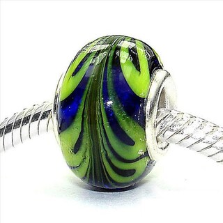 Silverplated 'Fun with Fred' Coastal Collection Glass Beads (Set of 3)