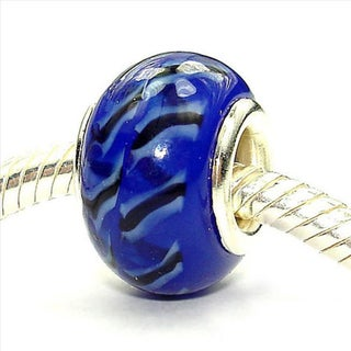 Sterling Silver 'Dance All Night!' Coastal Collection Glass Beads (Seat of 3)