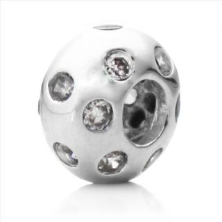 Silver-plated Crystal 'Disco Night' Decorative Bead
