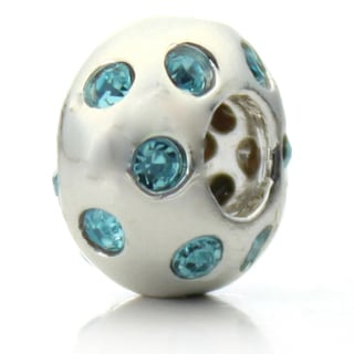 Silver-plated 'Disco Night' Decorative Crystal Bead