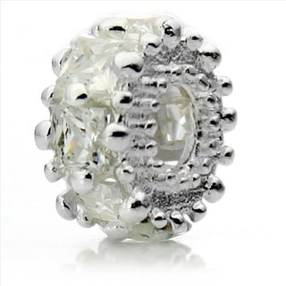 Silver-Plated 'Glitteratzi' Decorative Crystal Bead