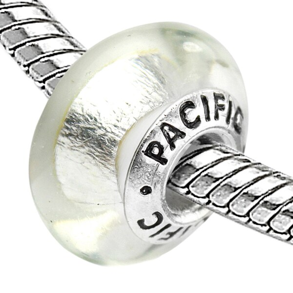 Sterling Silver 'Atlantis Pearl' Murano-style Glass Bead