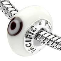 Sterling Silver 'Keep an Eye on Me' Glass Bead