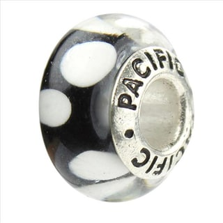 Sterling Silver 'Bubbles' Murano-style Glass Bead