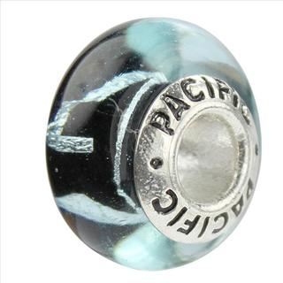 Sterling Silver 'Randomness' Murano-style Glass Bead