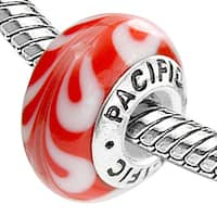 Sterling Silver 'Decadence' Murano Style Glass Bead