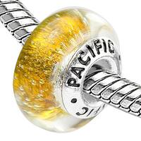 Sterling Silver 'Gold Digger' Glass Bead