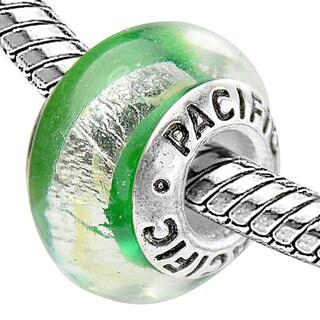 Sterling Silver 'Buena Vista' Murano Style Glass Bead