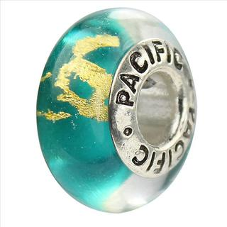 Sterling Silver 'Mambo' Murano-style Glass Bead