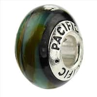 Sterling Silver 'Camouflage' Glass Bead