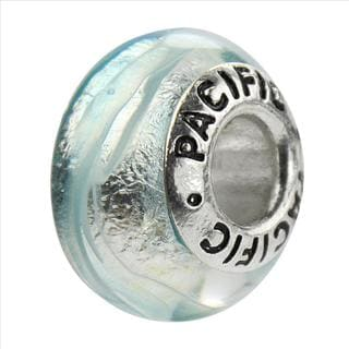 Sterling Silver 'Something Blue' Murano-style Glass Bead