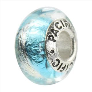 Sterling Silver 'Mesmerize' Murano-style Glass Bead
