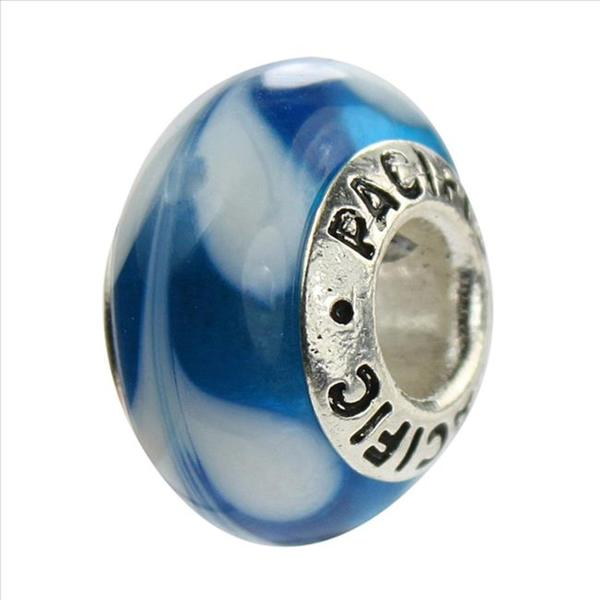 Sterling Silver 'Sugar Cane' Glass Bead