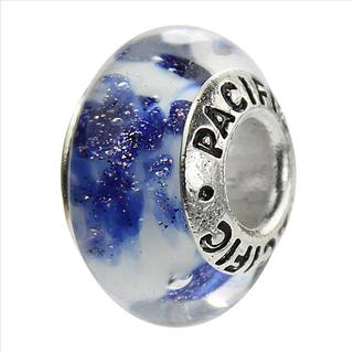 Sterling Silver 'Eclectic Mess' Murano-style Glass Bead