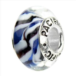 Sterling Silver 'Dance all Night!' Murano-style Glass Bead