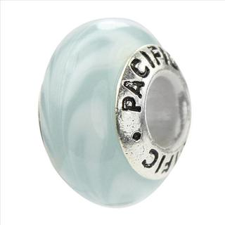 Sterling Silver 'Beach Party' Murano-style Glass Bead