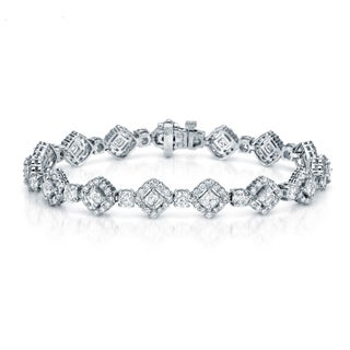 Auriya 18K White Gold 9 1/2ct TDW Diamond Bracelet
