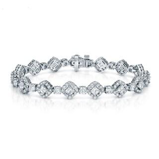 Auriya 18K White Gold 9 1/2ct TDW Diamond Bracelet