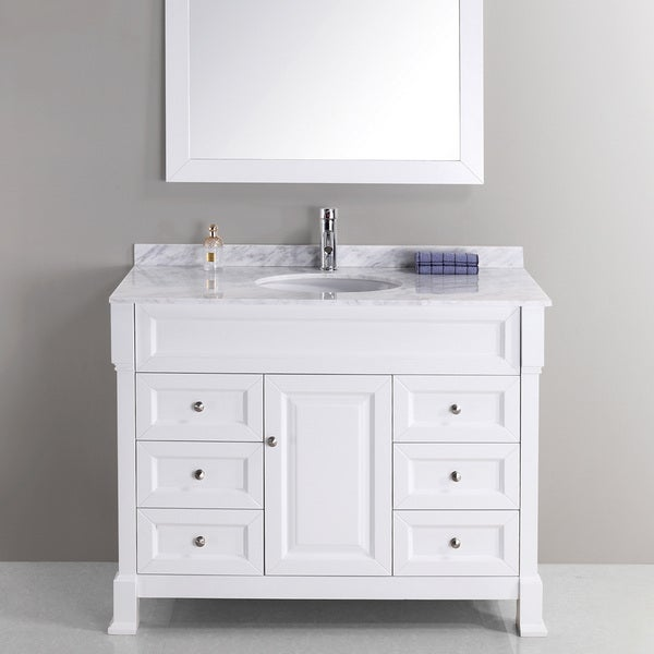 shop hunter 43 inch single sink vanity set free shipping today 7969260
