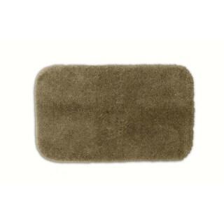 Somette Posh Plush Taupe Washable Bath Rug