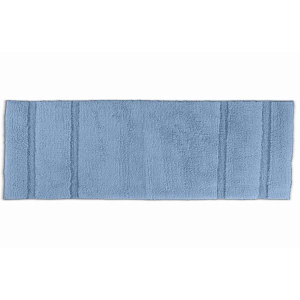Somette Tranquility Cotton Sky Blue Bath Runner