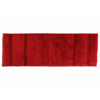 Somette Tranquility Cotton Chili Pepper Red 22 x 60 Bath Runner Rug