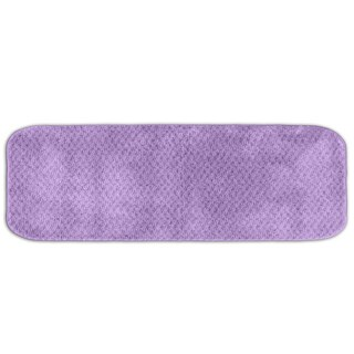 Somette Enliven Textured Purple 22 x 60 Bath Runner Rug