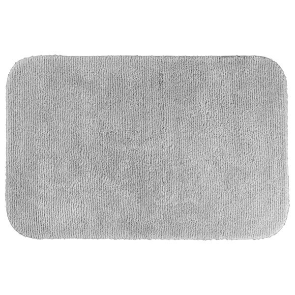 Somette Cheltenham Platinum Grey Washable 30 x 50 Bath Rug
