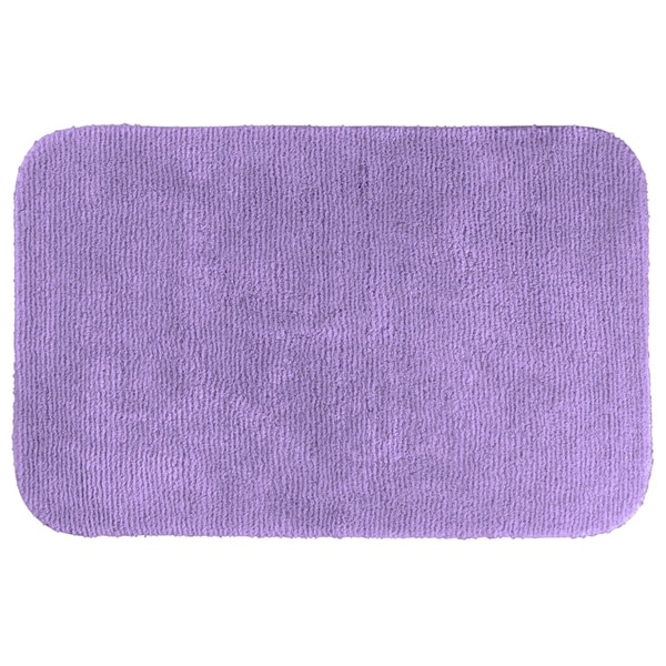 Somette cheltenham purple washable bath rug free for Big w bathroom mats