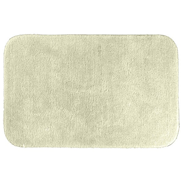 Somette Cheltenham Ivory Washable Bath Rug