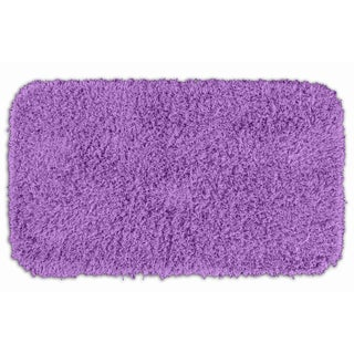 Somette Quincy Super Shaggy Purple Washable Runner Bath Rug