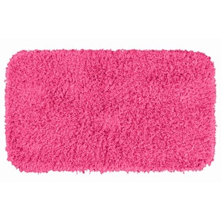 Somette Quincy Super Shaggy Pink Washable 30 x 50 Bath Rug