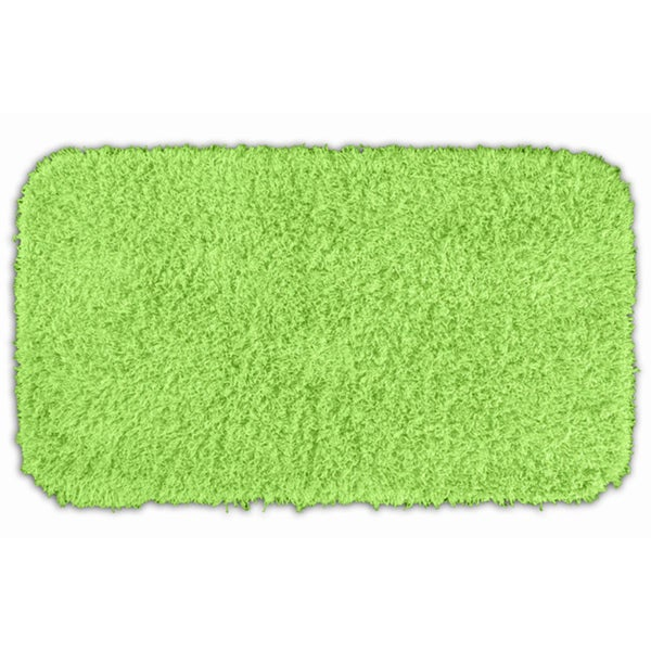 Somette Quincy Super Shaggy Lime Green Washable Runner Bath Rug