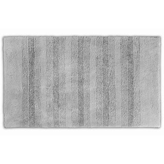 Somette Westport Platinum Grey Stripe 30 x 50 Washable Bath Rug