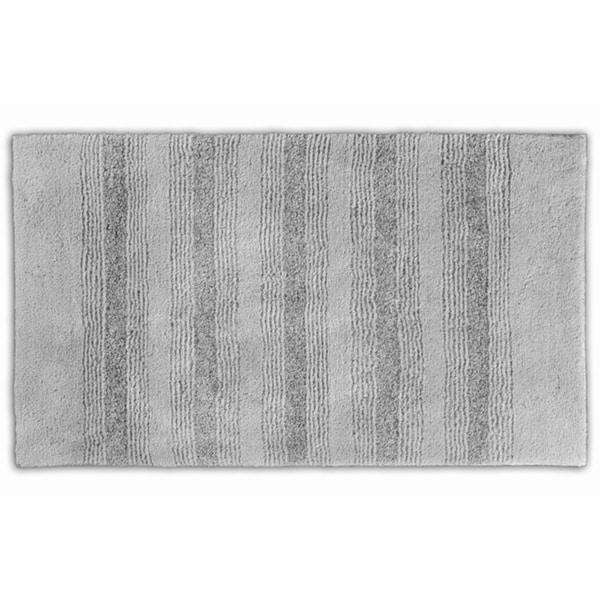 Somette Westport Platinum Grey Stripe Washable Bath Rug (30 x 50)