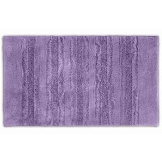 Somette Westport Purple Stripe Washable Bath Rug