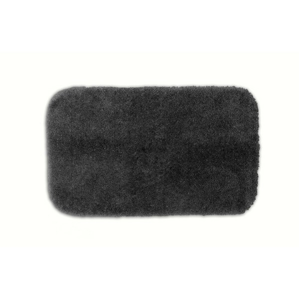 Somette Posh Plush Charcoal Washable Bath Rug