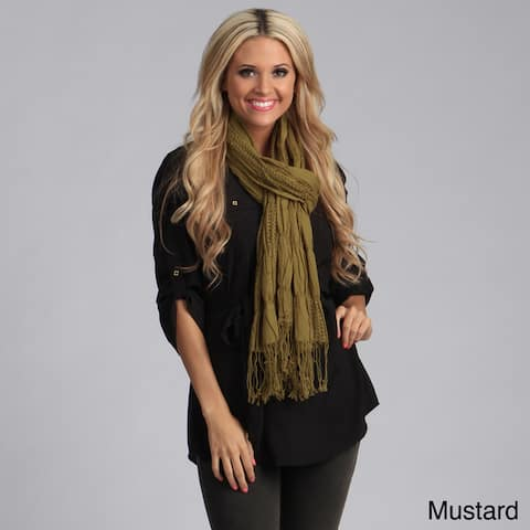 Saro Women's Woven Ruffled Scarf with Fringes