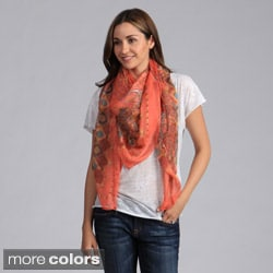 Saro Women's Printed Sheer Scarf