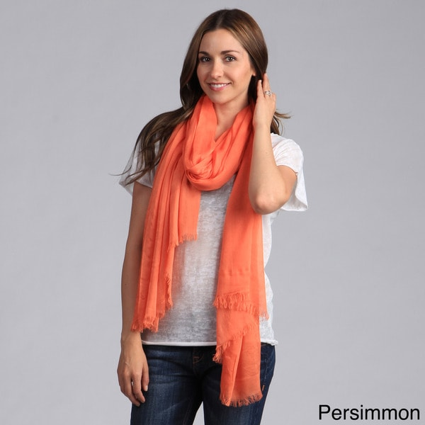 Saro Women's Solid Fringed Design Scarf. Opens flyout.