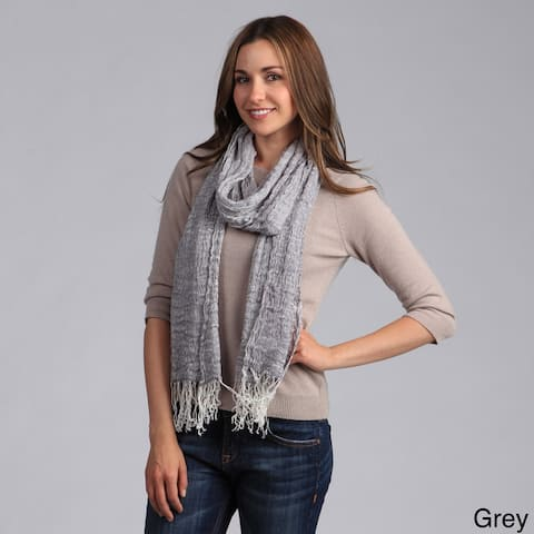 Saro Women's Woven Scarf with Fringes
