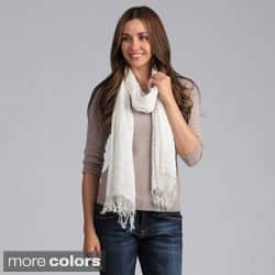 Saro Women's Woven Scarf with Fringes|https://ak1.ostkcdn.com/images/products/7969382/Saro-Womens-Woven-Scarf-with-Fringes-P15339909.jpg?impolicy=medium
