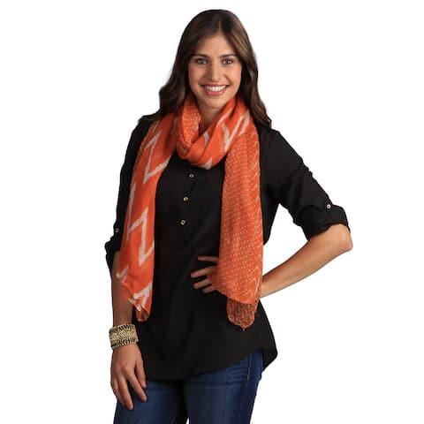 Saro Women's Ikat Design Shawl