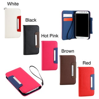 Gearonic Samsung Galaxy S4 Wallet PU Leather Card Holder Magnetic Flip Cover