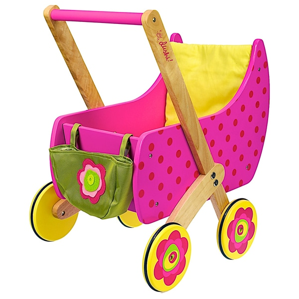 Dushi Wooden Push Doll Carrier