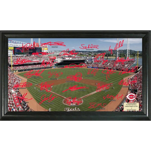 Highland Mint MLB Cincinnati Reds Signature Field Frame
