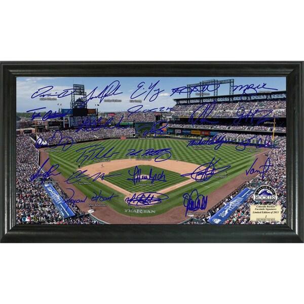 Highland Mint MLB Colorado Rockies Signature Field Frame